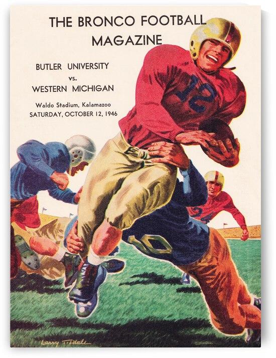 1946 Western Michigan Broncos vs. Butler Football Program Art | Row 1 by Row One Brand