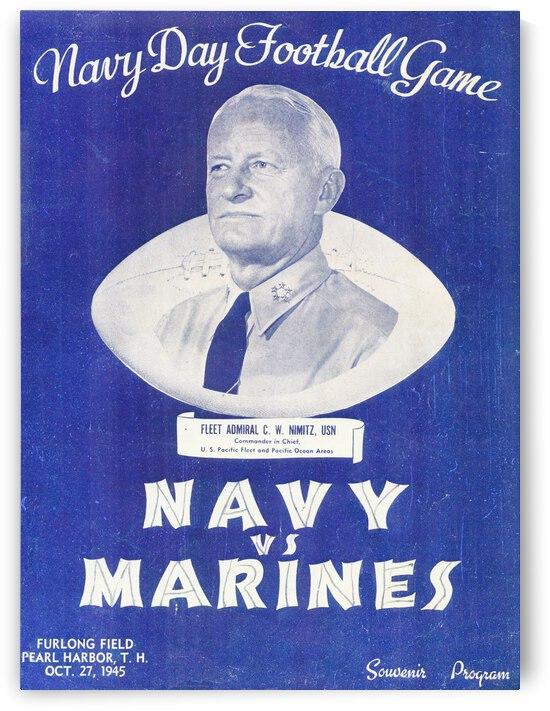 1946 Navy vs. Marines Football | Row 1 by Row One Brand