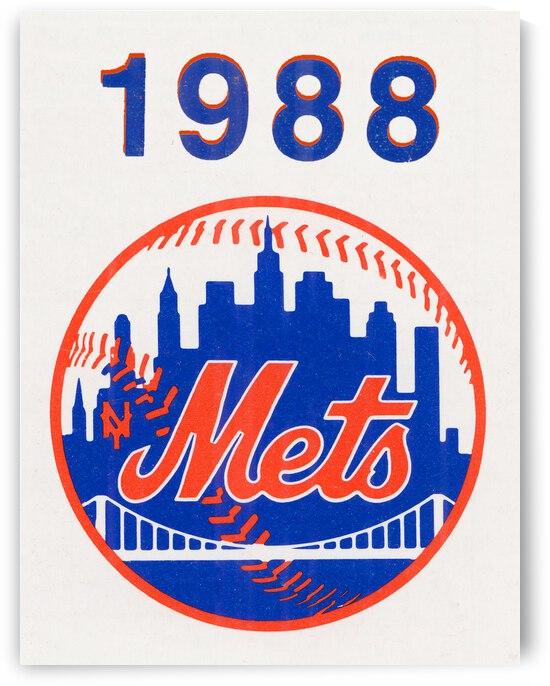 1988 New York Mets Retro Art | Row 1 by Row One Brand