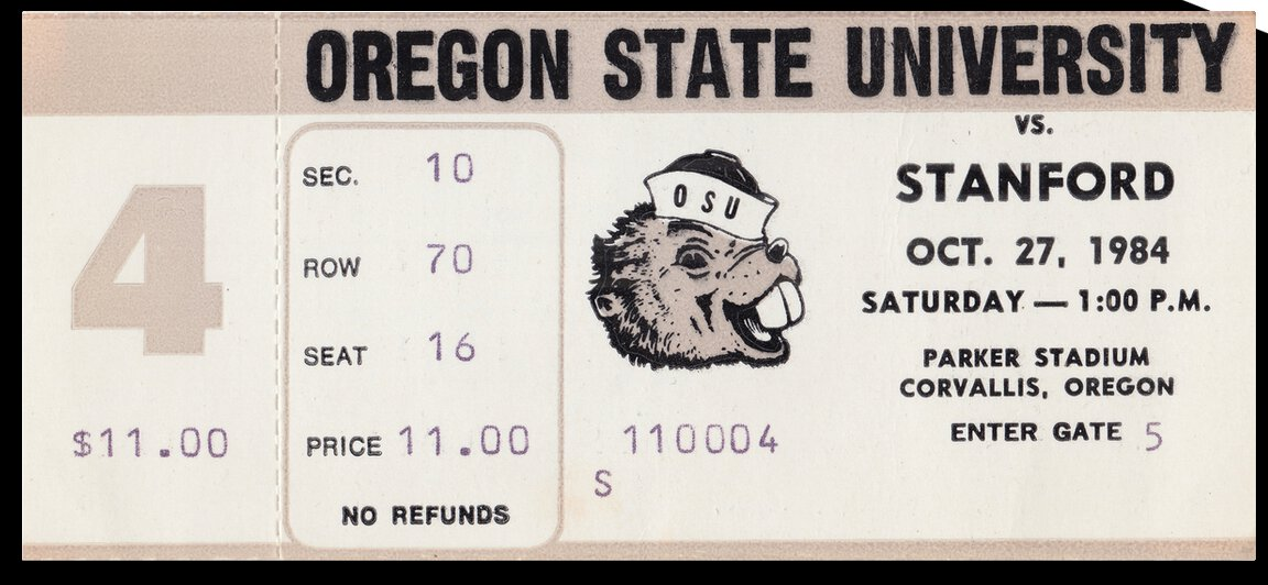 1984 Oregon State vs. Stanford | Row 1 by Row One Brand