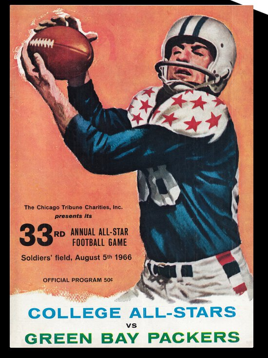 1966 Green Bay Packers vs. College All-Stars | Row 1 by Row One Brand