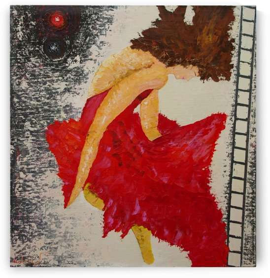 Ballet-2011-Ballet  MDF, oil on canvas (January-March 2011) size, width 85 height 90 cm by Vetrof Alik