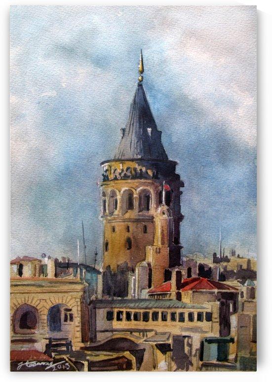 Galata Tower Istanbul by JAMALEDDIN TOOMAJNIA