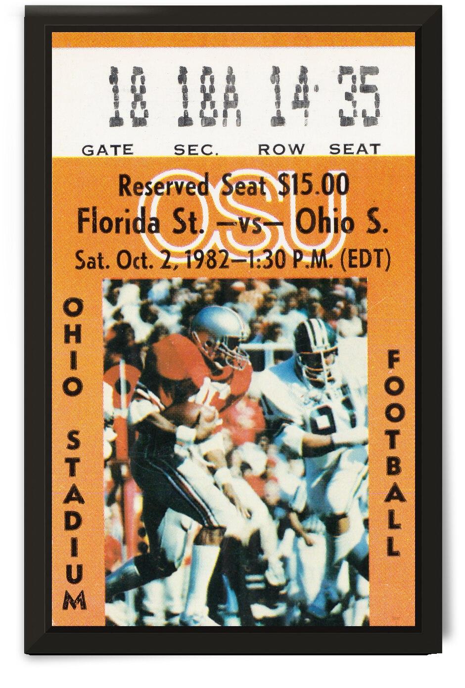 1982 Florida State Seminoles vs. Ohio State Buckeyes | Row 1 by Row One Brand