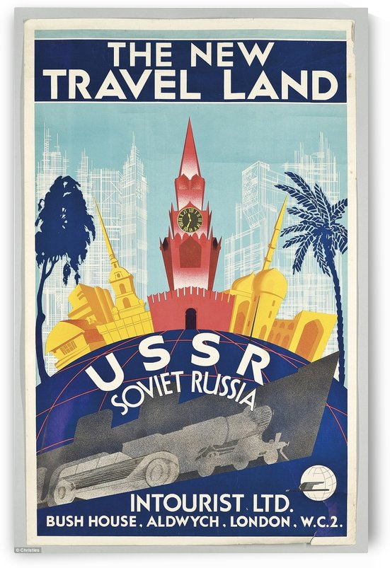 USSR Soviet Russia The new travel land by VINTAGE POSTER