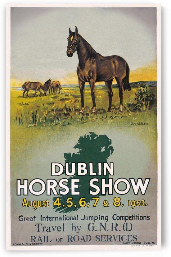 Irish Art Travel Railway Poster, Dublin Horse Show, Ireland by VINTAGE POSTER