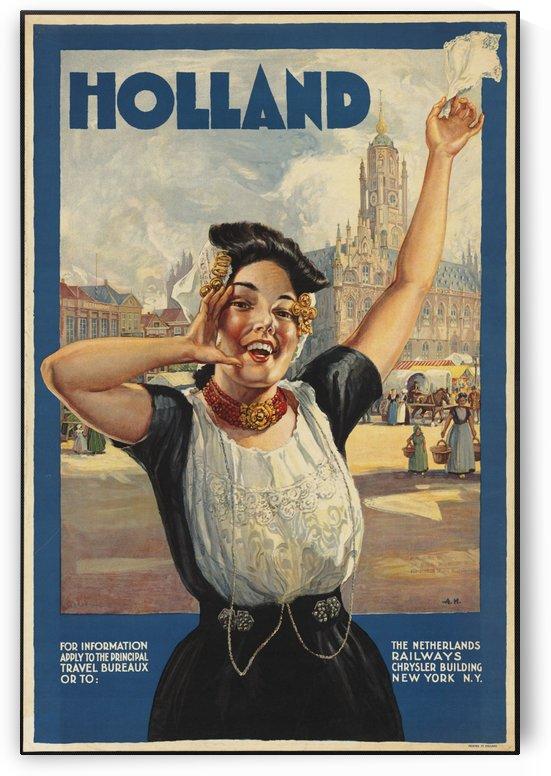 Holland Vintage Travel Poster by VINTAGE POSTER
