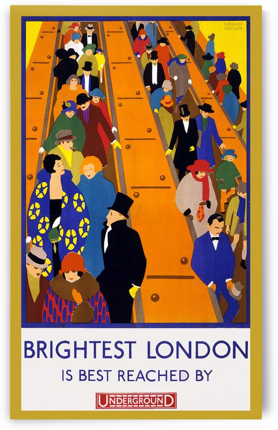 Brightest London travel poster by VINTAGE POSTER