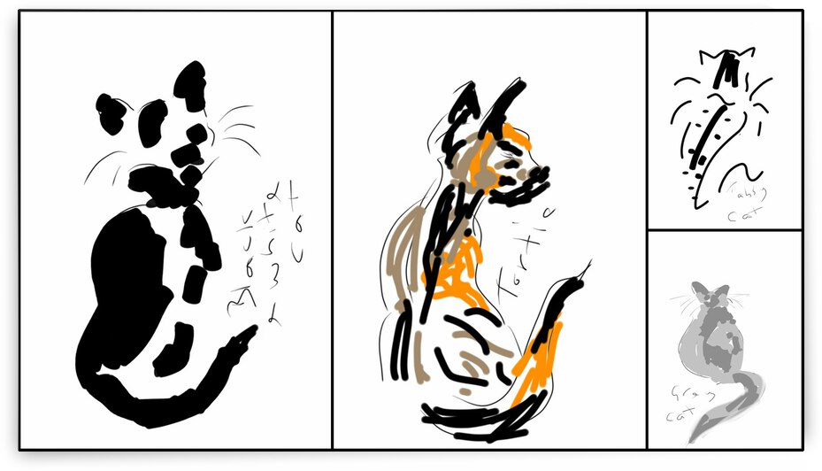 Cat Sketches by Dorothy Berry-Lound