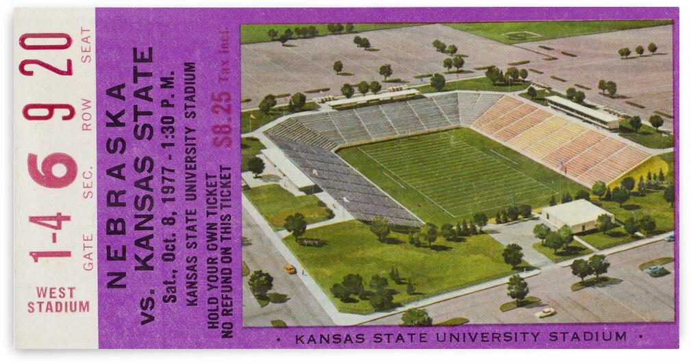 1977 Nebraska Cornhuskers vs. Kansas State Wildcats | Row 1 by Row One Brand