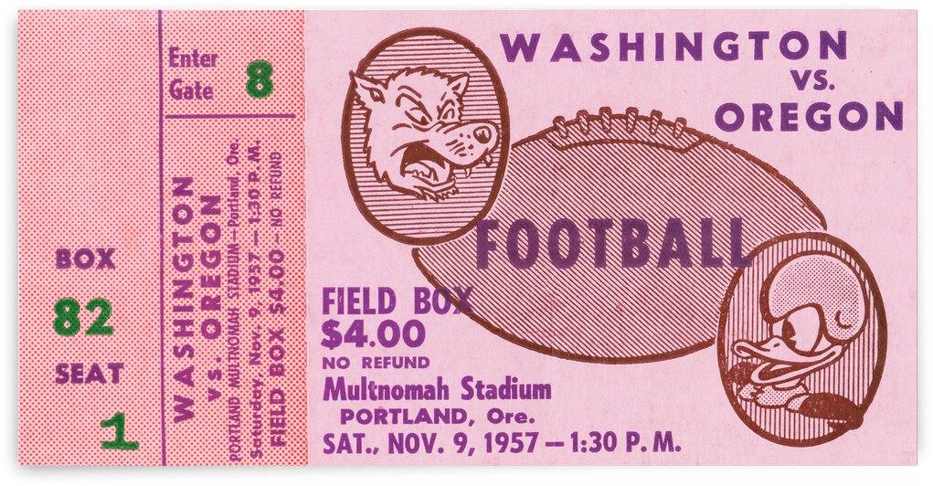 1957 Washington Huskies vs. Oregon Ducks by Row One Brand