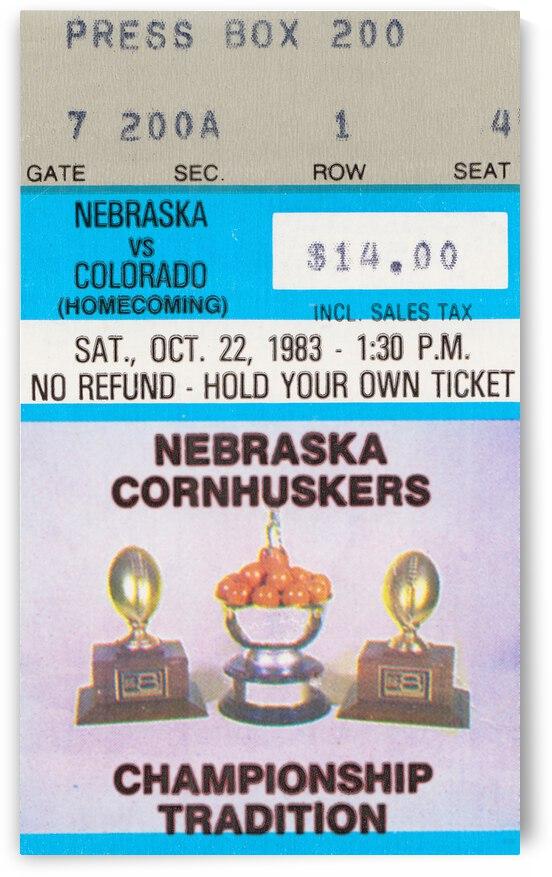 1983 Nebraska Cornhuskers vs. Colorado Buffaloes | Row 1 by Row One Brand