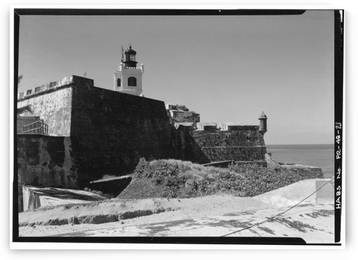 Castillo de San Felipe del Morro Lighthouse, Puerto Rico by Stock Photography