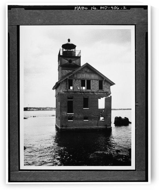 Cedar Point Lighthouse, Maryland by Stock Photography
