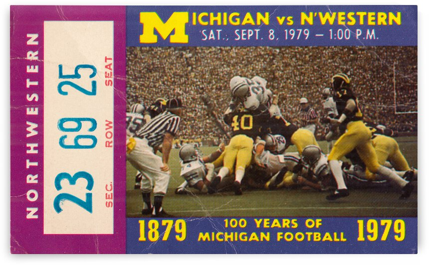 1979 Michigan Wolverines vs. Northwestern Wildcats | Row 1 by Row One Brand