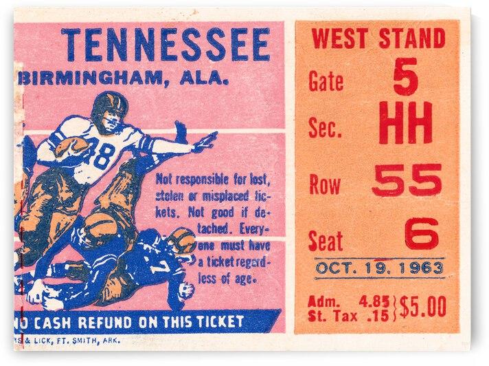 1963 Alabama Crimson Tide vs. Tennessee Vols | Row 1 by Row One Brand