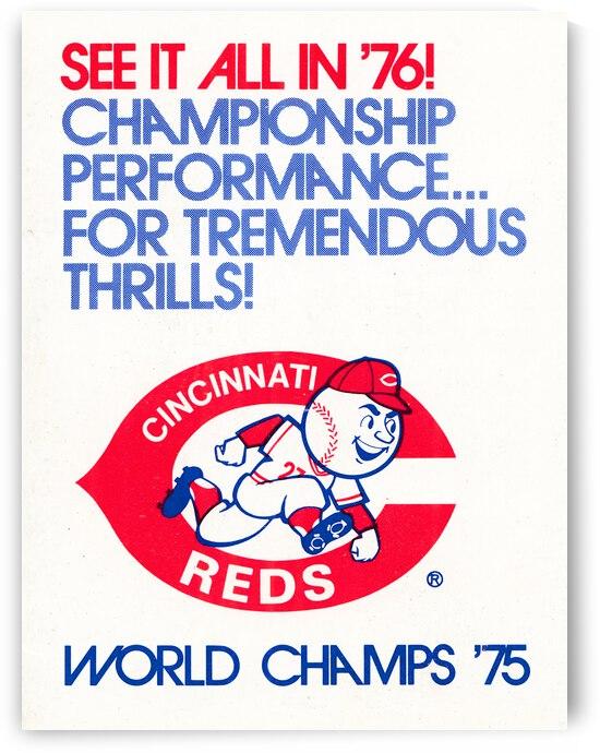 1976 Cincinnati Reds Baseball Art | Row 1 by Row One Brand