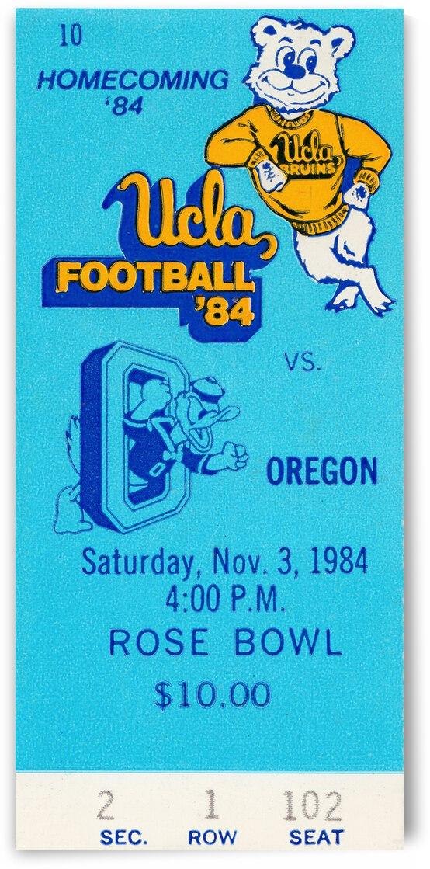 1984 UCLA Bruins vs. Oregon Ducks | Row 1  by Row One Brand
