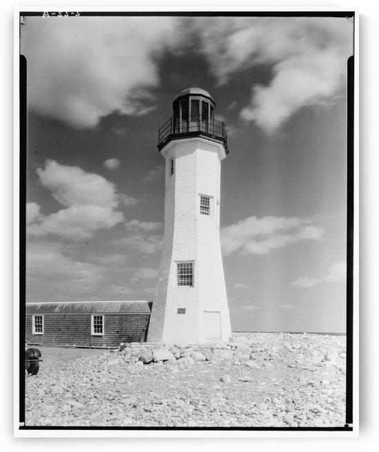 Cedar Point Scituate Harbor Lighthouse, MA by Stock Photography