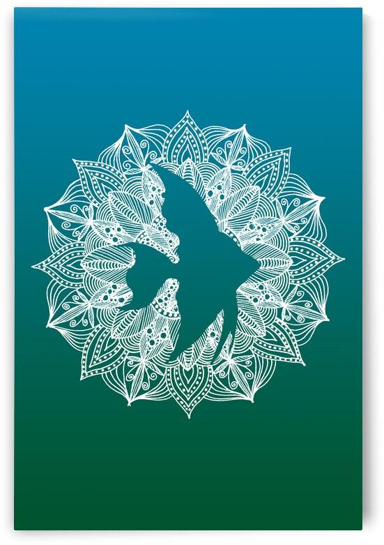 Mandala Circle Fish by ZeichenbloQ