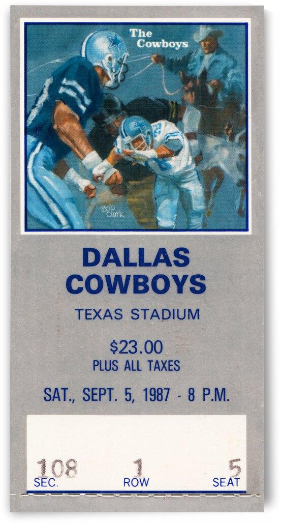1987 Dallas Cowboys Ticket Stub Art | Row 1 by Row One Brand