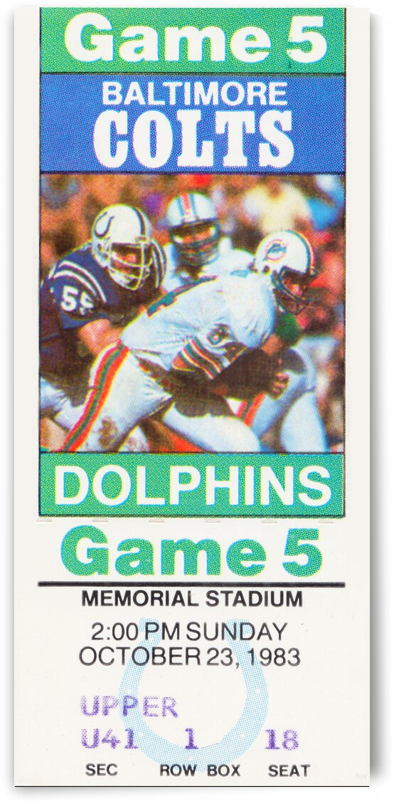 1983 Baltimore Colts vs. Miami Dolphins by Row One Brand