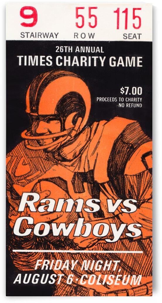 1971 LA Rams vs. Dallas Cowboys Preseason Ticket | Row 1 by Row One Brand