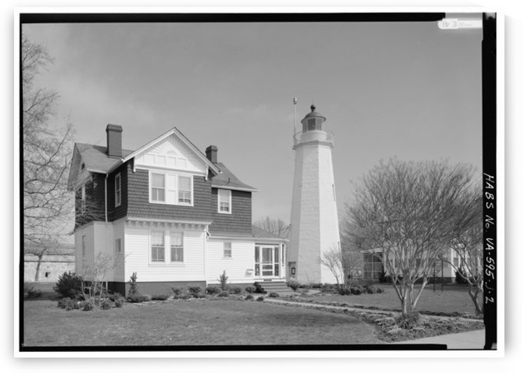 Fort Monroe Lighthouse, VA by Stock Photography