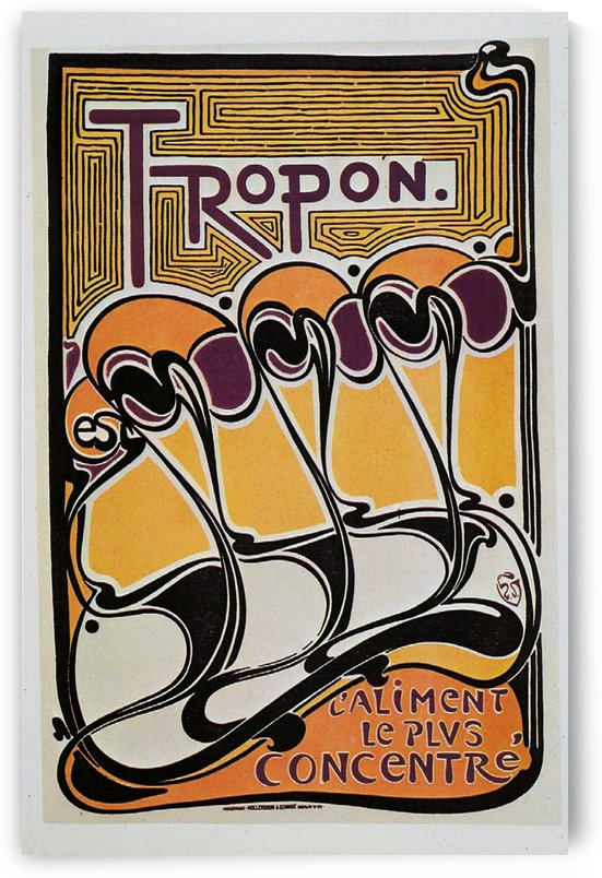Vintage poster for Tropon food concentrate, 1899 by VINTAGE POSTER