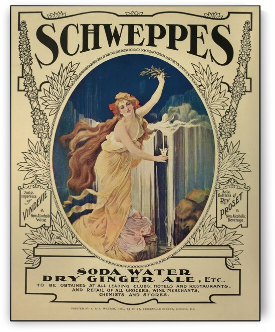 Art nouveau poster for Schweppes in 1908 by VINTAGE POSTER