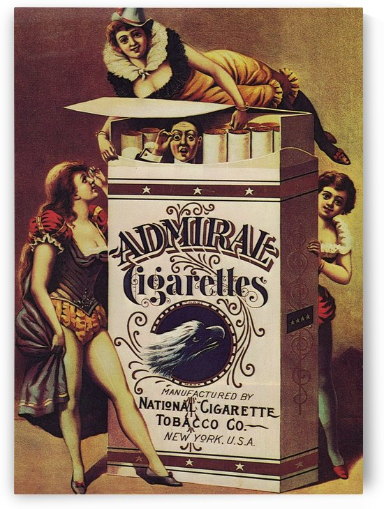 Admiral Cigarettes National Cigarette Tobacco Co Ad Poster 1890 by VINTAGE POSTER