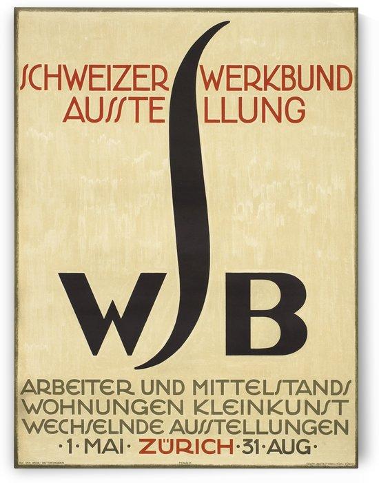 Schweizer Werkbund Ausstellung Original Poster by VINTAGE POSTER