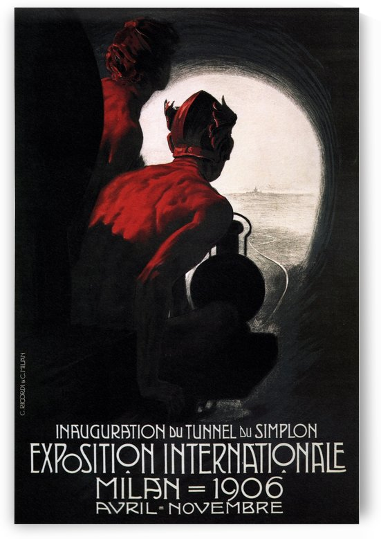 Esposizione Internazionale in Milan 1906 by VINTAGE POSTER