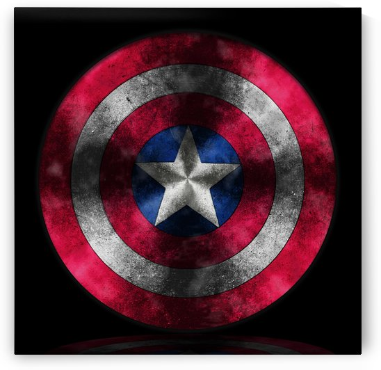 Captain America Shield digital painting by Georgeta Blanaru