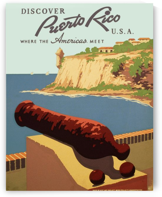Discover Puerto Rico USA travel poster by VINTAGE POSTER