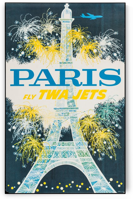 TWA Airlines - Paris Travel Poster by VINTAGE POSTER