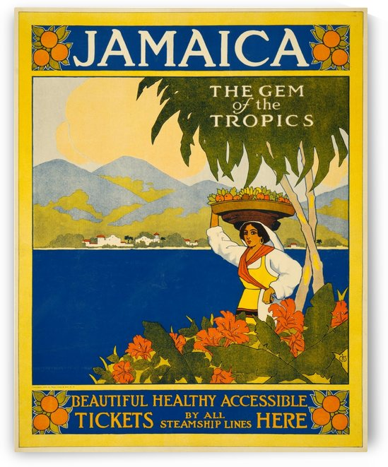 1910 Thomas Cook Jamaica travel poster by VINTAGE POSTER
