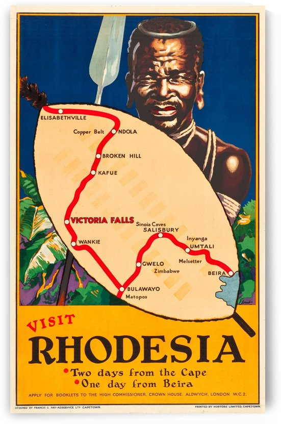 Visit Rhodesia Travel Poster by VINTAGE POSTER