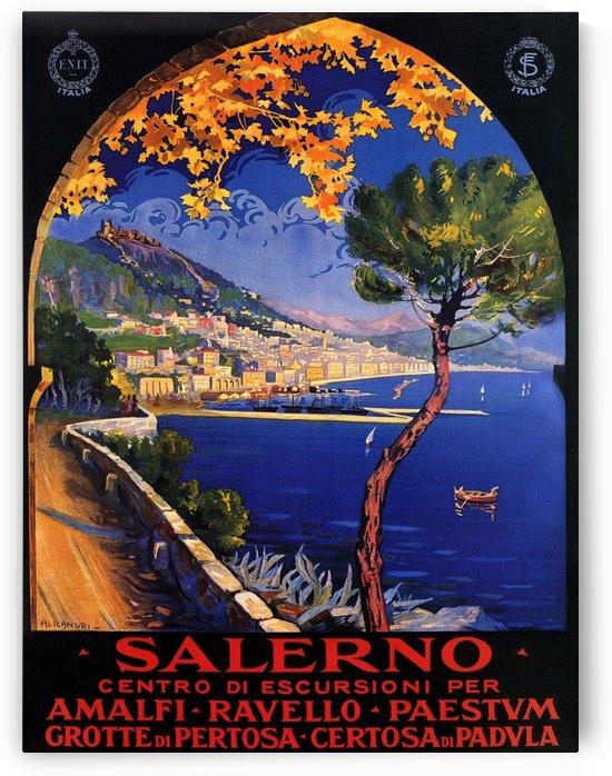 Salerno Amalfi Ravello Paestum Italian Vintage Poster by VINTAGE POSTER
