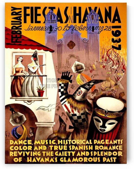 Cuba Vintage Travel Poster by VINTAGE POSTER