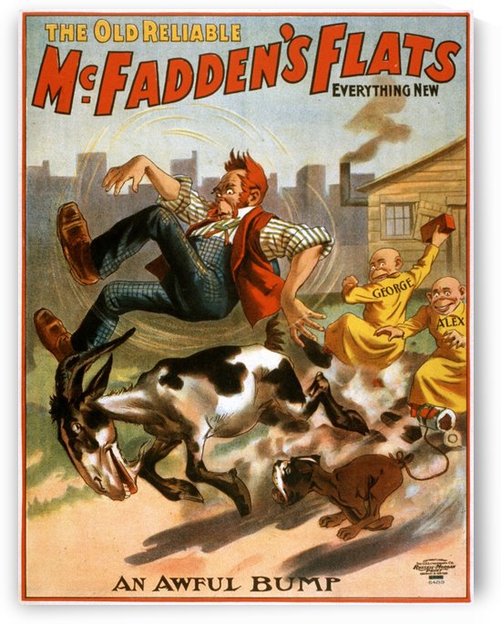 The old reliable McFadden flats, performance poster, 1902 by VINTAGE POSTER