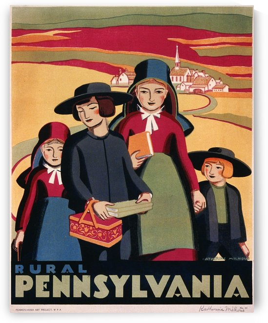 1938 Rural Pennsylvania poster by VINTAGE POSTER