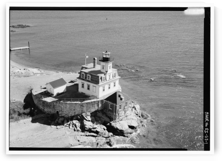 Rose-Island-Lighthouse-Rhode-Island by Stock Photography