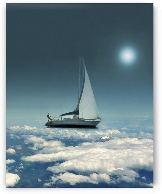 Navigating Trough Clouds Fantasy Collage Photo by Daniel Ferreia Leites Ciccarino