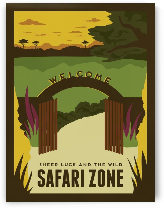 Sheer luck and the wild in Safari zone travel poster by VINTAGE POSTER
