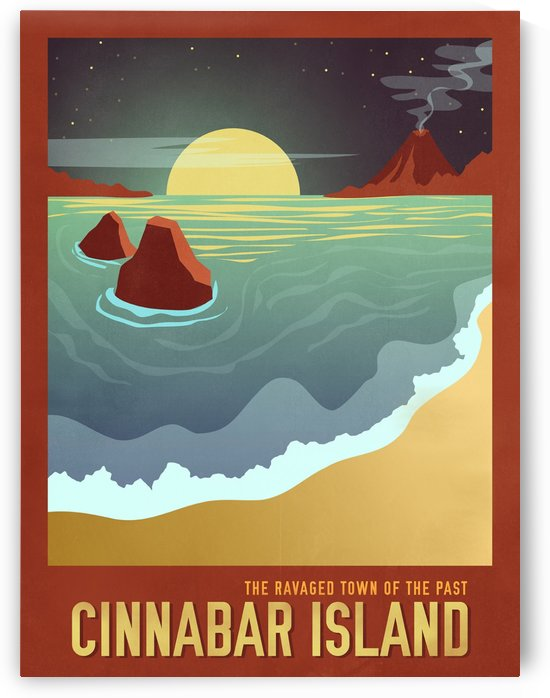 Cinnabar Island travel poster by VINTAGE POSTER