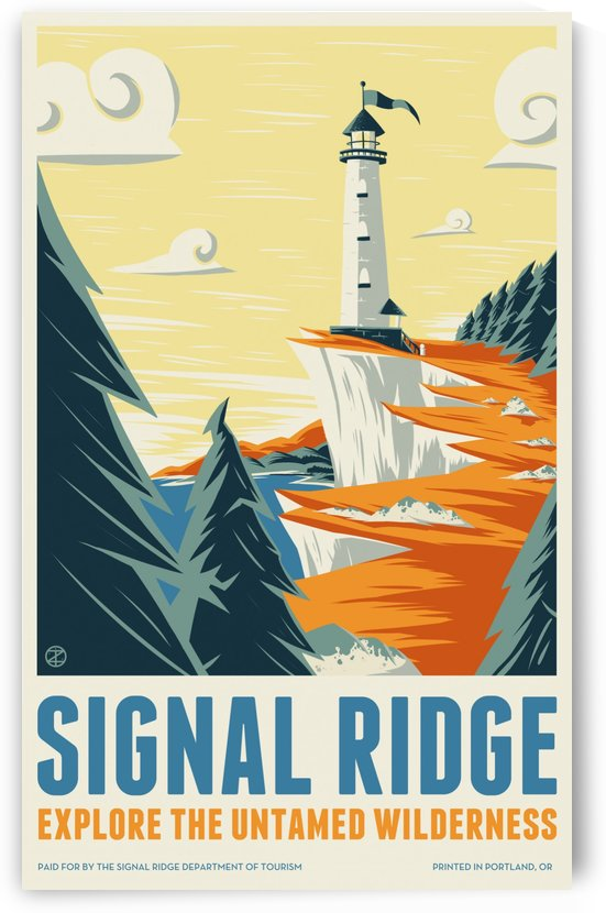 Vintage travel poster for Signal Ridge by VINTAGE POSTER