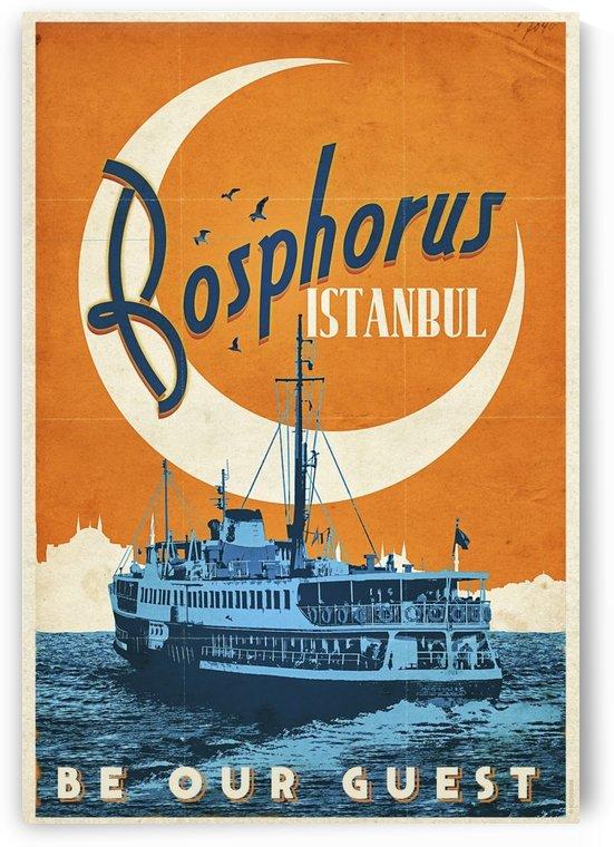 Bosphorus Istanbul Vintage Travel Poster by VINTAGE POSTER