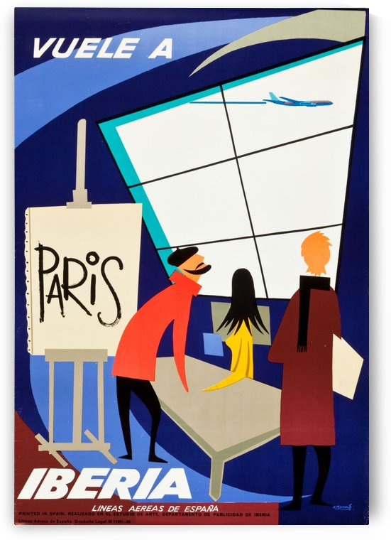 Iberia Airlines Travel Poster by VINTAGE POSTER