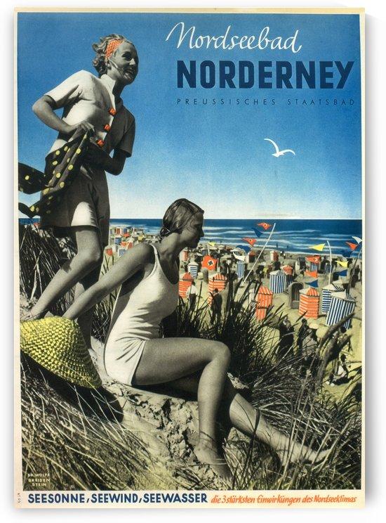 Nordseebad Norderney Germany Vintage Travel Poster 1939 by VINTAGE POSTER